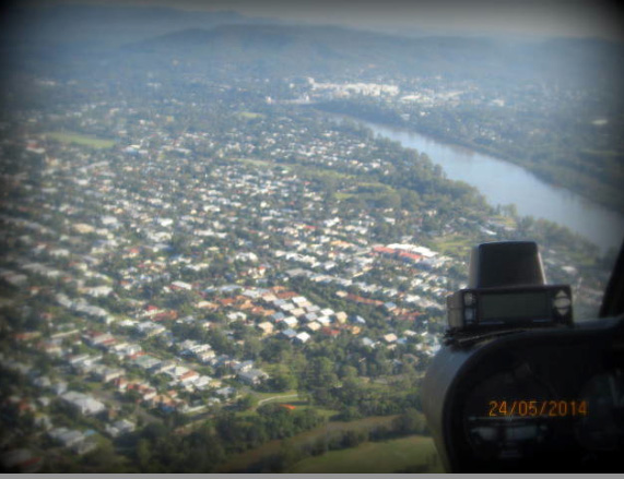 Aerial view of Brisbane from Helicopter