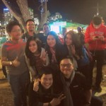 Indonesian Students at the Night Noodle Markets, South Bank