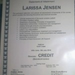 Certificate for elective