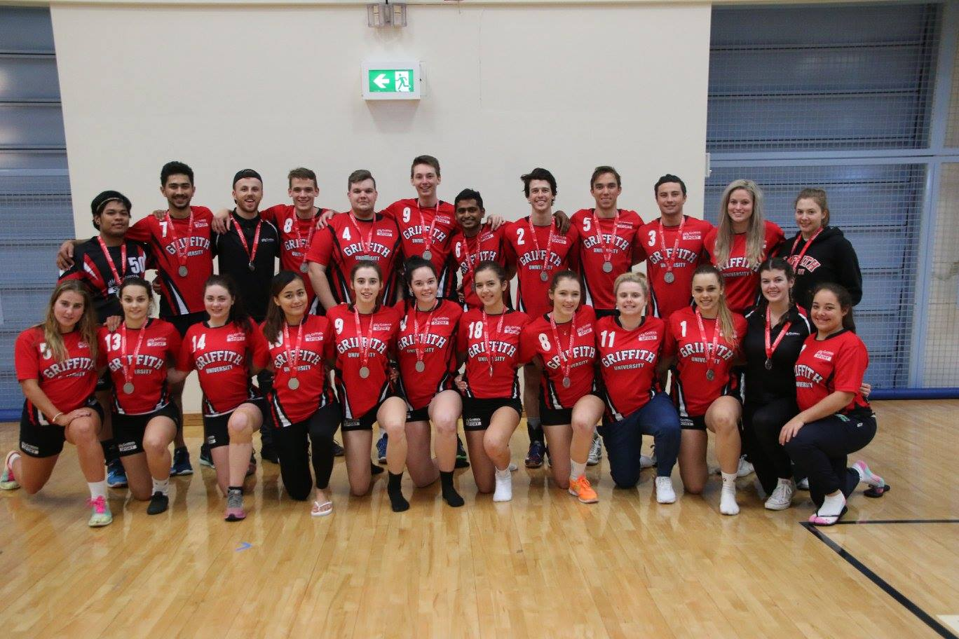Griffith-mixed-volleyball-team