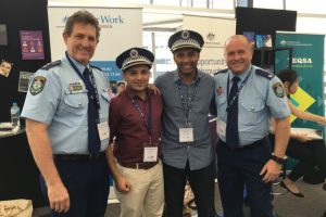 Anand and Babin meeting the local police.